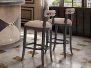Wenge counter stool with footrest PLAZA | Counter stool - Formitalia Group