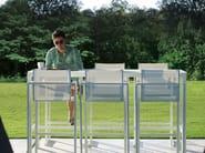 Sedia alta da giardino in Batyline® con braccioli ALURA | Sedia alta - ROYAL BOTANIA