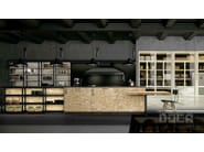 Fitted kitchen with handles CRAFT SHAVING / SEDAMAT OCEANIC - Doca