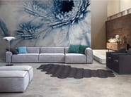 Panoramic wallpaper with floral pattern CRAZY FLOWERS - Inkiostro Bianco