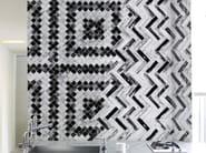 Motif geometric wallpaper CRISS-CROSS - Wall&decò