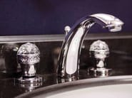 Classic style 3 hole countertop washbasin tap CRYSTAL | 3 hole washbasin tap - GENTRY HOME