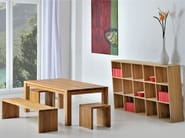 Rectangular solid wood table CUBUS | Table - vitamin design