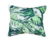 Rectangular outdoor fabric cushion Foliage backrest cushion - Tectona