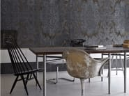 Damask panoramic wallpaper with concrete effect DAMASKED CONCRETE - Inkiostro Bianco