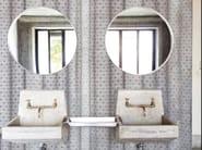 Bathroom wallpaper DANCING CURTAINS - Wall&decò