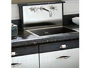 Cucina componibile in acciaio inox DECHORA - COMPOSIZIONE 03 - Marchi Cucine