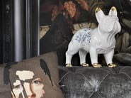 Ceramic decorative object DELFT CERAMIC BULLDOG - Mineheart