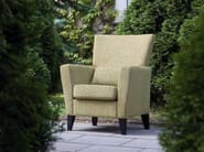 Upholstered fabric armchair with armrests DENVER - SITS