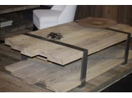 Rectangular oak coffee table with integrated magazine rack DETOUR - CABUY D.
