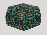Upholstered wool pouf DIAMOND APPLEGREEN | Pouf - Golran