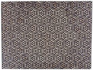Rectangular rug with geometric shapes DIAMOND BLACK&CREAM - Golran