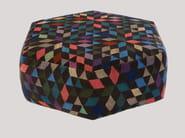 Pouf imbottito in lana DIAMOND BLACK | Pouf - Golran