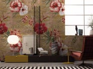 Panoramic wallpaper with floral pattern DIANTHUS - Inkiostro Bianco