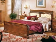 Solid wood double bed with tufted headboard DOGI | Bed with tufted headboard - Arvestyle