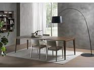 Extending rectangular table DOMINIQUE | Cimento® table - Pacini & Cappellini