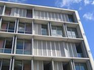 Folding aluminium shutter with fixed louvers DUFIX 50OV SAFE | Folding shutter - INDÚSTRIAS DURMI