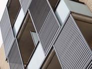 Sliding extruded aluminium solar shading DUTEC 80S | Solar shading - INDÚSTRIAS DURMI