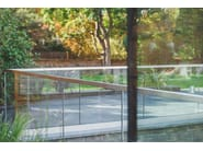 Steel Balustrade fixing EASY GLASS® MOD 0747 - Q-RAILING ITALIA