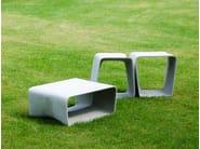 Low cement garden stool ECAL   Stool - SWISSPEARL Italia