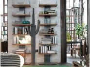 Wall-mounted solid wood bookcase INFINITY | Bookcase - Devina Nais