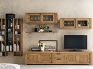 Wall-mounted lacquered TV wall system ECLETTICA DAY | Storage wall - Devina Nais