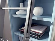 Open lacquered floating bookcase EDIS 6 - Fimar
