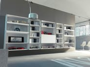 Contemporary style open wall-mounted lacquered bookcase EDIS 7 - Fimar