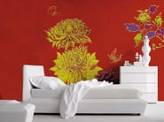 Panoramic wallpaper with floral pattern FLAMBOYANT - Inkiostro Bianco