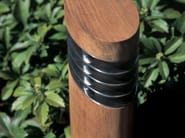 Garden teak bollard light ELLIPSE | Teak bollard light - ROYAL BOTANIA
