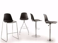 Trestle-based polypropylene counter stool EPOCA | Counter stool - Luxy
