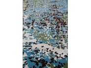 Patterned handmade rectangular rug ERASURE LOMBOK - EDITION BOUGAINVILLE