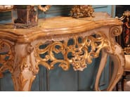 Lacquered solid wood console table ERCOLE | Console table - Arvestyle