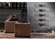 Leather pouf / coffee table ERCOLE TRECY | Pouf - FRIGERIO POLTRONE E DIVANI