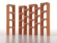 Open sectional polypropylene kids bookcase EUR - Magis