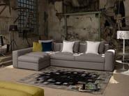 Corner sofa bed with removable cover EXTON | Corner sofa - Domingo Salotti