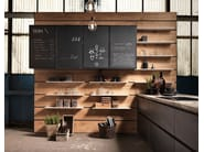 Kitchen with peninsula without handles FACTORY | Kitchen with peninsula - Aster Cucine