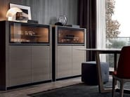 Wood veneer highboard with doors FEBE | Highboard - Poliform