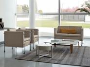 Upholstered leather armchair with armrests FELIX | Armchair - arflex