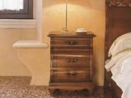 Solid wood bedside table with drawers FENICE | Solid wood bedside table - Arvestyle