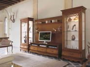 Parete attrezzata divisoria in legno massello FENICE | Parete attrezzata in legno massello - Arvestyle