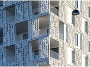 Outdoor fiber-reinforced concrete 3D Wall Cladding for facades fibreC 3D CAST - RIEDER