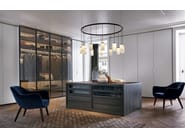 Sectional glass wardrobe FITTED | Wardrobe - Poliform