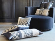 Jacquard fabric with graphic pattern FIZZ PIED DE POULE - l'Opificio