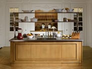 Cherry wood kitchen with island FLORAL | Kitchen with island - L'Ottocento