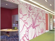 Non-woven paper wallpaper with floral pattern FLORAL - LGD01