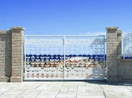 Swing Motorized iron gate FLOREALE 2668 - Fabbridea