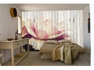 Wallpaper with floral pattern FLOWER - CREATIVESPACE