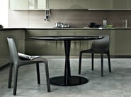 Lacquered round table FLUTE | Lacquered table - Poliform