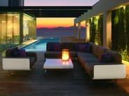 Upholstered modular fabric garden armchair FOLD | Armchair - ROYAL BOTANIA